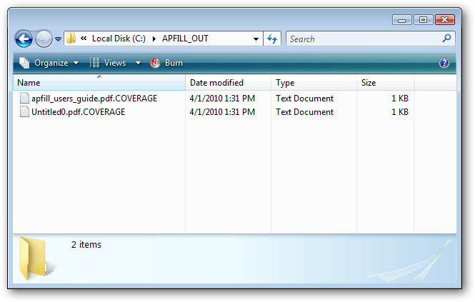 Using APFill for automatic calculation of ink/toner coverage of PDF
